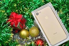 Bangkok, Thailand - November 23, 2016 : New Apple iPhone 7 unbox Royalty Free Stock Photography