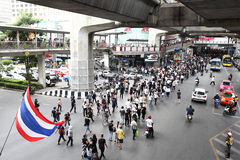 BANGKOK,Thailand - November 11,2013 : A protester joins an anti- Stock Photo
