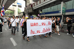 BANGKOK,Thailand - November 11,2013 : A protester joins an anti- Royalty Free Stock Images