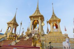 The Royal Cremation Ceremony of His Majesty King Bhumibol Adulya Stock Photos