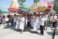 BANGKOK, THAILAND - NOVEMBER 26, 2011. series of the ordination Stock Image