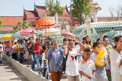 BANGKOK, THAILAND - NOVEMBER 26, 2011. series of the ordination Stock Images