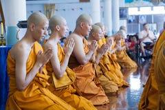BANGKOK, THAILAND - NOVEMBER 26, 2011. series of the ordination Stock Photography