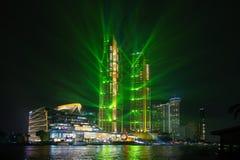 Bangkok,Thailand-November 9,2018: The spectacular lighting show royalty free stock photos