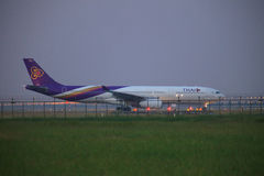 BANGKOK THAILAND NOVEMBER 21 : Thai airways plane ready to take Royalty Free Stock Photo