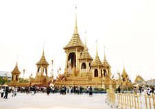 Thai people visit in The Royal Crematorium of the funeral exposition Stock Images
