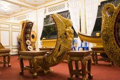 Bangkok, Thailand - 4. November 2017; Thailändisches Xylophon der alten Instrumente Stockfotos