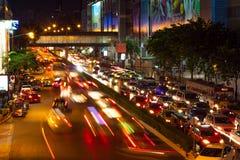 Bangkok, Thailand - November 8 ,2015: Thanon Phaya Thai Road MBK Royalty Free Stock Image