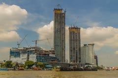 Under construction of ICONSIAM project, a future mixed-use devel. Bangkok, Thailand - November 29, 2017: Under construction of ICONSIAM project, a future mixed Royalty Free Illustration