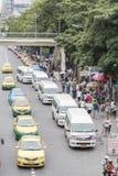 Bangkok, Thailand - November 07, 2015: van taxis, taxis and peop Stock Image