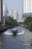BANGKOK, THAILAND-OCT 27TH: A water bus makes its way along the Stock Image