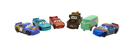 Bangkok,Thailand,24 oct 2017,illustrative editorial ,a group of. Cars ,actor in cars movie on isolated white background wiht clipping path Stock Image