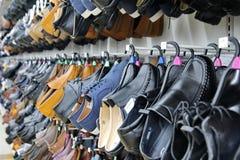 Bangkok,Thailand,14 Oct 2018 ,Several sizes of shoes were displa stock image
