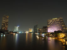 BANGKOK, THAILAND - OCT 18, 2015: Shangri La Hotel Bangkok. The Shangri La is a popular luxury hotel in Bangkok along the Chao Phraya river Royalty Free Stock Images