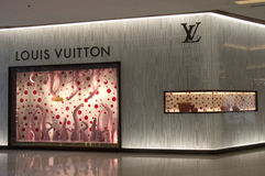 BANGKOK, THAILAND - OCT 11th: Louis Vuitton store in Siam Parago Royalty Free Stock Photo