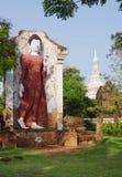 BANGKOK, THAILAND - OCTOBER 30, 2013: Ancient Siam park,  Buddha Image of Dvaravati Period Royalty Free Stock Image