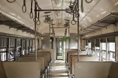 BANGKOK THAILAND - October 2015: Cabin of public train with seat at Bangkok Railway Station (Hua Lamphong in Thai language) Royalty Free Stock Image