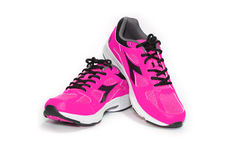 BANGKOK,THAILAND-October 2 ,2016:Diadora new pink ultra boots shoes for running on white background -illustrative editorial Stock Photos