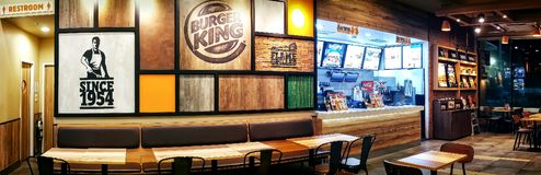BANGKOK, THAILAND - OCTOBER 23: Empty Burger King fast food stor royalty free stock photography