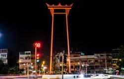 Bangkok Thailand October 18, 2015  : The Giant Swing at night Royalty Free Stock Image