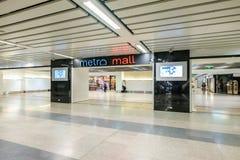 Metro Mall shopping center in MRT subway train. Bangkok, Thailand - October 10, 2017: Metro Mall shopping center in MRT subway train. The MRT serves 240,000 Stock Photography