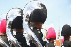 The movement of the military in the orchestra Stock Photography