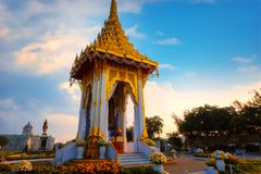 The replica of royal crematorium of His Majesty late King Bhumibol Adulyadej built for the royal funeral at The Royal Plaza Stock Photos