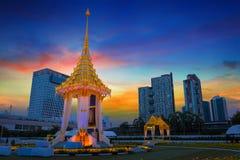 The replica of royal crematorium of His Majesty late King Bhumibol Adulyadej built for the royal funeral at BITEC - Bangkok Intern Stock Photo