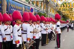 Bangkok, Thailand - October 25, 2013 : Thai guardsman band march Stock Images