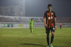 BANGKOK THAILAND OKTOBER 5: Antonio Pina under fotbollsmatch Fotografering för Bildbyråer