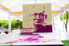 Bangkok Thailand - Oktober 5: BlommagarneringMerit-danande ce Arkivfoto