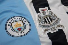 BANGKOK, THAILAND - 19. OKTOBER: Das Logo von Manchester City und Lizenzfreie Stockbilder