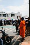 BANGKOK THAILAND - Oktober 14,2016: Det thailändska folket deltar i till Graen Arkivfoton