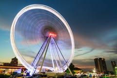 BANGKOK THAILAND - 29 OKTOBER: Ferris Wheel in ASIATIQUE R Royalty-vrije Stock Foto