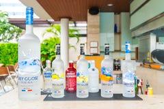 Bangkok Thailand - Oktober 09,2015: Flaska av svensk vodka Abso Royaltyfri Bild