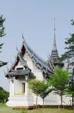 BANGKOK THAILAND - OKTOBER 30, 2013: Forntida Siam, Sanphet Prasat slott, Ayutthaya Arkivfoto