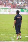 BANGKOK THAILAND OKTOBER 5: lagledare av den Bangkok FC lagblicken på högt Arkivfoton