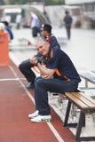 BANGKOK THAILAND OKTOBER 5: Moreira Reuther lagledare av Bangkok FC Arkivbilder