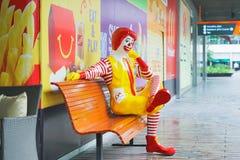 BANGKOK THAILAND - OKTOBER 10: ronald-mcdonald på restaurangen för McDonald ` s på Oktober 10, 2017 Royaltyfri Fotografi