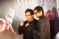 Bangkok Thailand - Oktober 21, 2013: Tom Yum för filmproducent G Arkivfoto