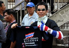 Bangkok, Thailand: Operation Shut Down Bangkok Protestor Royalty Free Stock Photography