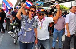 Bangkok, Thailand: Operation Shut Down Bangkok Protestors Stock Images