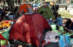 Bangkok, Thailand: Operation Shut Down Bangkok Protestors Camped in Tents Stock Images