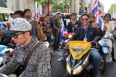 Bangkok, Thailand: Operation Shut Down Bangkok Protestors Stock Photo