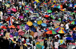 Bangkok, Thailand: Operation Shut Down Bangkok Protestors Stock Image