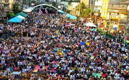 Bangkok, Thailand: Operation Shut Down Bangkok Protestors Royalty Free Stock Photography