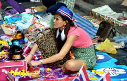 Bangkok, Thailand: Operation Shut Down Bangkok Souvenir Vendor Stock Photo