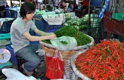 Bangkok, Thailand: Outdoor Market Food Vendor Stock Photo