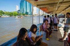 Bangkok, Thailand : passenger in boat Stock Photography