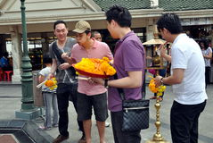 Bangkok, Thailand: People at Erawan Shrine Royalty Free Stock Photo